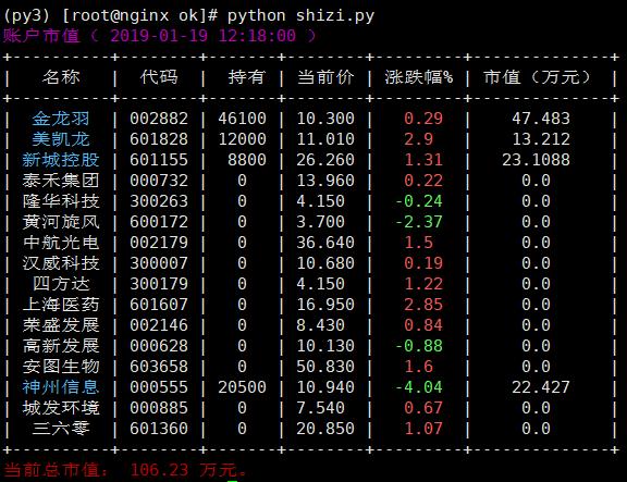 Python:实时查看股票账户