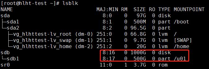 在CentOS 6 Linux下:不丢失数据对现有MBR分区进行扩容(小于2TB)