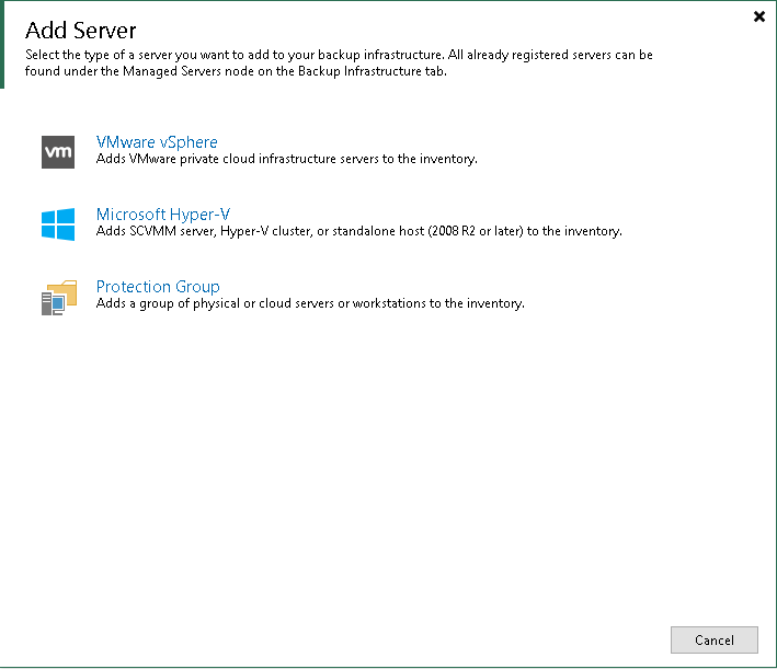 Veeam Backup & Replication 10 测试#3 (连接vCenter)