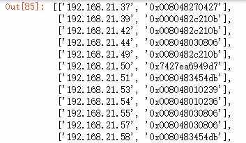 Python:通过SNMP协议获取华为交换机的ARP地址表
