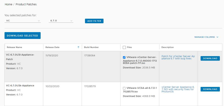 VMware vCenter 6.7 升级最新补丁:6.7.0.46000-17138064